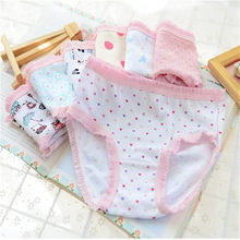 73c7f1f3dafb 2018 New Cotton Children Panties 10Pcs/lot Girls' Briefs Female Child  Underwear baby girl panty Children Clothing HJL-6698E