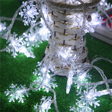 8M 50LED String lights white Snowflake Window Garlands decorations wedding Christmas party decorative lights LED Fairy lights