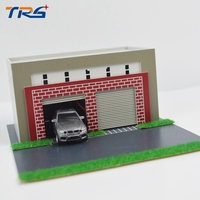 Teraysun Model Train Scenery 1 64 1 87 Miniatrure Model Garage Scale Car Garage Model Kids