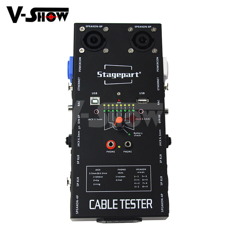 1pc Cable Tester Wire Tracker Tracer Network RJ45 3 5 Pin XLR 3 5 8 Pin