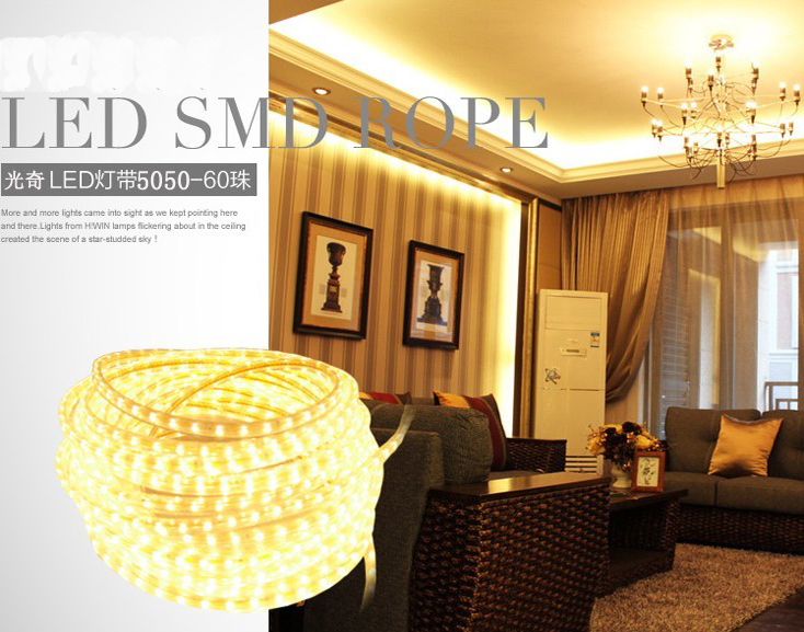 Սուպեր պայծառ 5050 LED շերտի շերտով110V- 120 - LED լուսավորություն - Լուսանկար 2