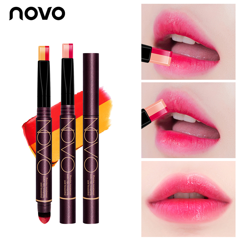 NOVO Two-color Gradient Matte Nude Lipstick Waterproof Long