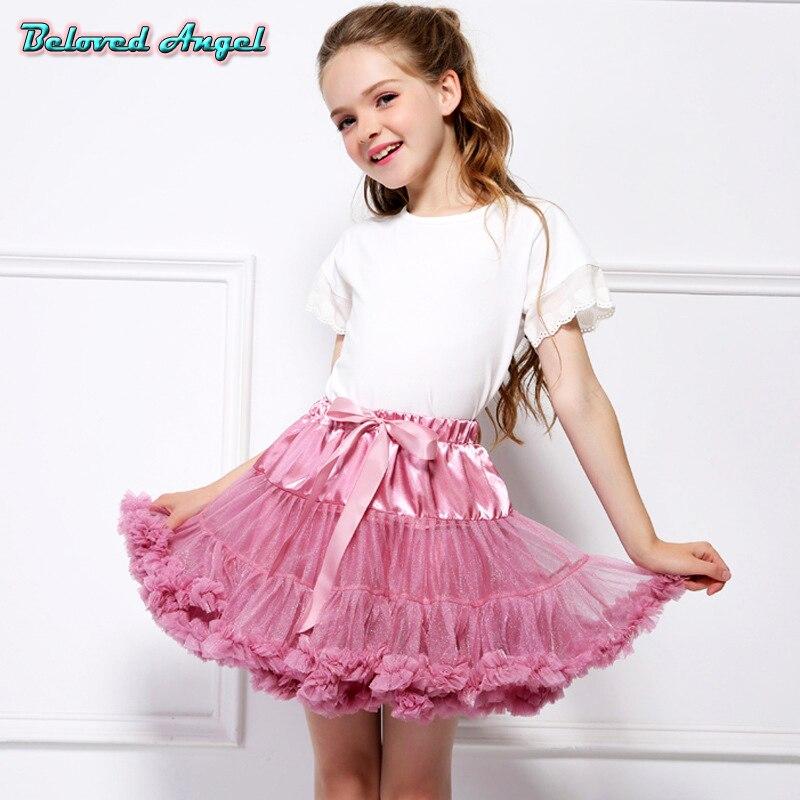 ff756711b3 Las niñas falda Tutu bailarina vestido de capa de los niños faldas de  Ballet de baile fiesta princesa tul minifalda de encaje para 0-16 años