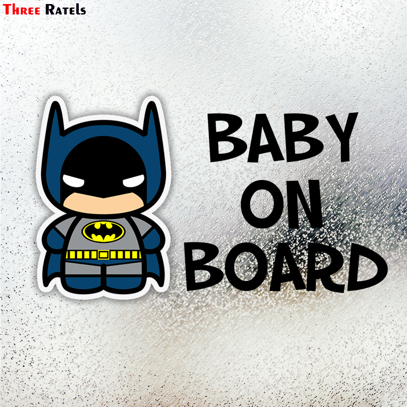 Three Ratels LCS172# 12.5x18.9cm Baby On Board Colorful Car Sticker Funny Car Stickers Styling Removable Decal