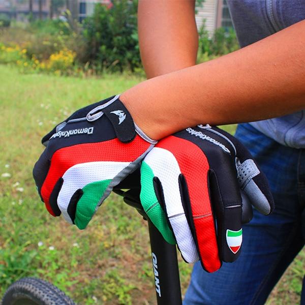 2016 Hot Cykelhandskar Cykelsport Full Finger Handskar GEL Pad Shock - Cykling - Foto 3
