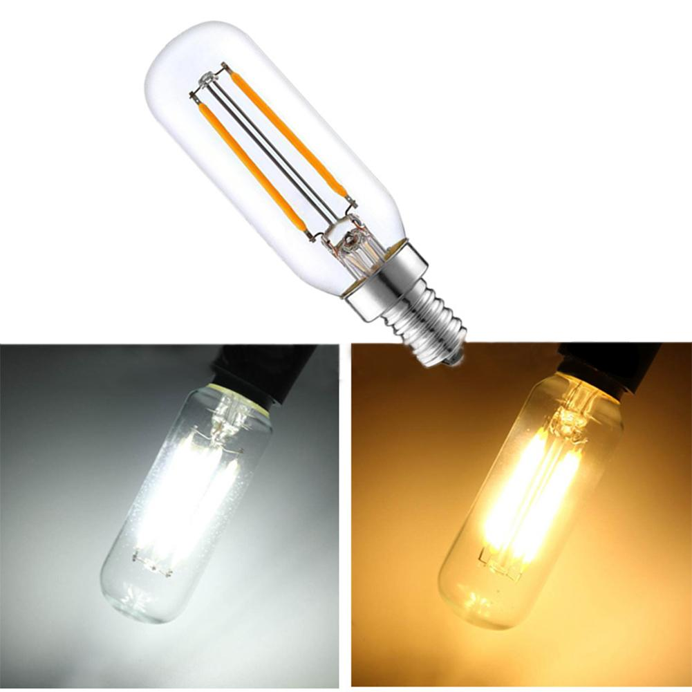 Range Hood Lamp LED 220V 3W E14 Base Life 10000h Warm & White Light Bulb Transparent Glass Non-dimmable For Kitchen Light Tool