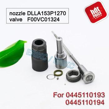 ERIKC 0445110193 0445110194 Diesel Fuel Injector Repair Parts Nozzle DLLA153P1270 Control Valve F00VC01324 For Bosch Replacement