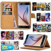 For Samsung Galaxy S2 Plus I9105 S3 Mini I8190 Universal Printed PU Wallet Flip Flora Leather