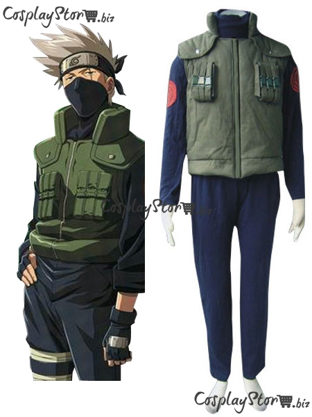 Naruto Costume Naruto Hidden Leaf  Village Of Konoha Jounins Uniform Cosplay Mens Vest Naruto Cosplay Costume 2014