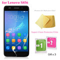 "5 pçs/lote super clear filme protetor de tela para lenovo s856/5.5 ""premium transparent screen guard capa protetora"