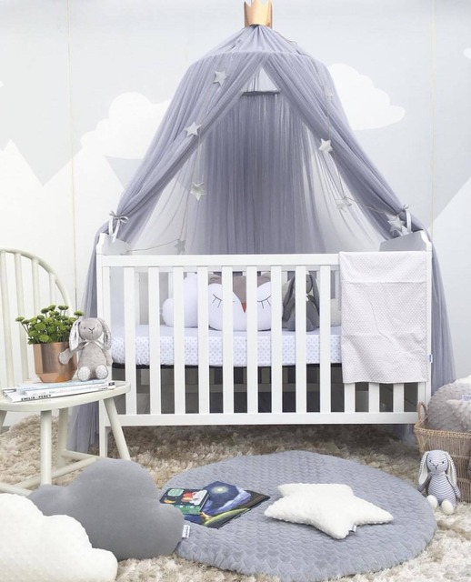 Nordic Style Play House Tents for Kids Room Bed Curtain Baby Hanging Tent Crib Baby Room Decor Round Hung Dome Mosquito Net