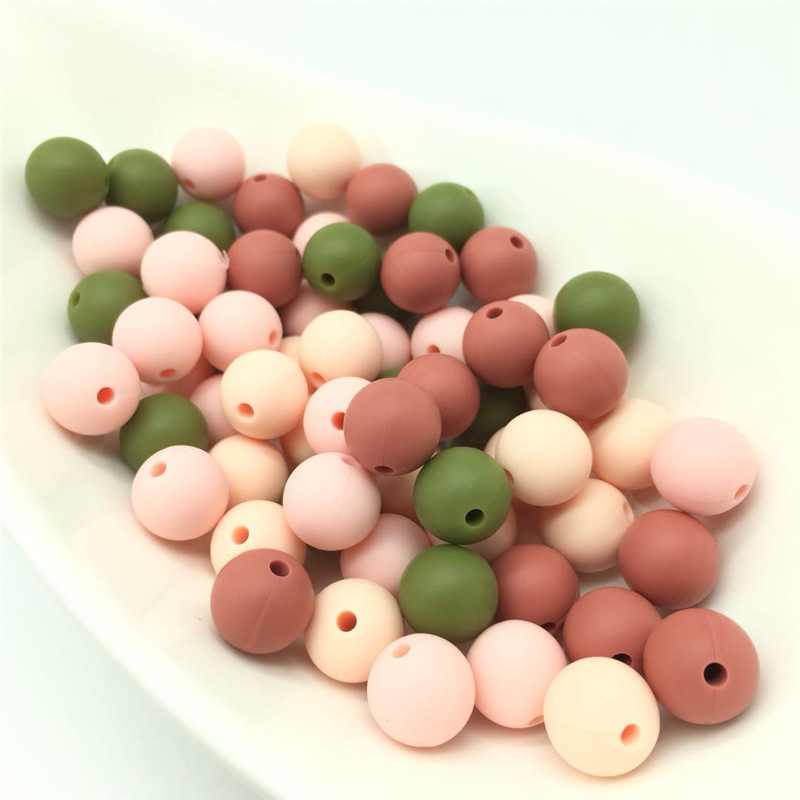Beads & Jewelry Making Logical Chengkai 50pcs Bpa Free Silicone Rose Flower Pendant Teether Beads Diy Baby Pacifier Dummy Teething Chewable Nursing Jewelry Toy