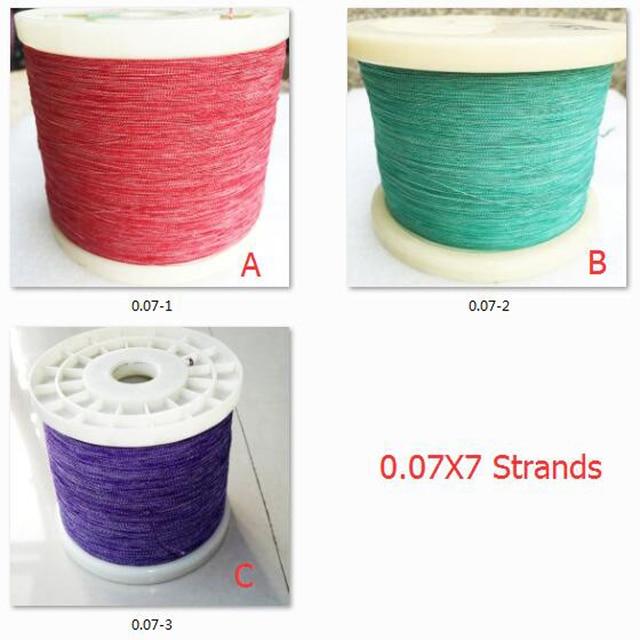 ChengHaoRan 1 m 0.07x7 aandelen van multi streng koper zijde natuurlijke zijde envelop verkocht door de meter litz draad garen envelop 1 meter