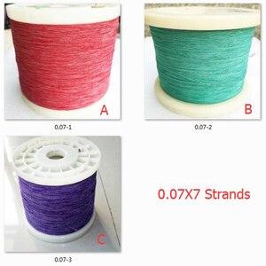 ChengHaoRan 1m 0.07x7 shares of multi-strand copper silk natural silk envelope sold by the meter Litz wire yarn envelope 1 meter