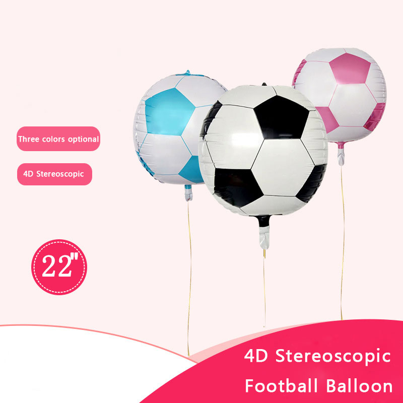New <font><b>22</b></font> inch 4D stereo football aluminum foil balloon <font><b>birthday</b></font> decoration holiday decoration ballon children's toy balloons image