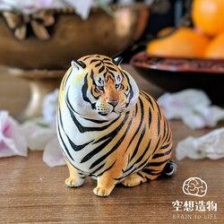 Pequeños juguetes de moda con figura de tigre Gordo del Zoológico de Brain to Life