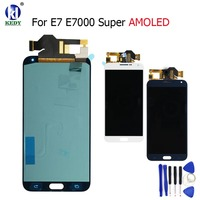 KEDY 100% Super AMOLED LCD For Samsung Galaxy E7 E700 E700F SM-E7000 E7009 LCD Display Touch Screen Digitizer Assembly Free To