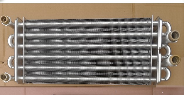 Boiler heat exchanger Length 340mm/310mm, Double-pipe heat exchanger primary, Gas boiler accessories aurora gas heat 50