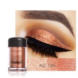 Focallure Glitter Powder Waterproof Loose Shimmer Pigment 3D Nude Metallic Makeup Cosmetics with 12 Colors