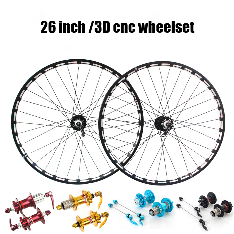 NT light weight 9 10 speed 26 inch 2/4 sealed bearings mtb bicycle wheel set все цены