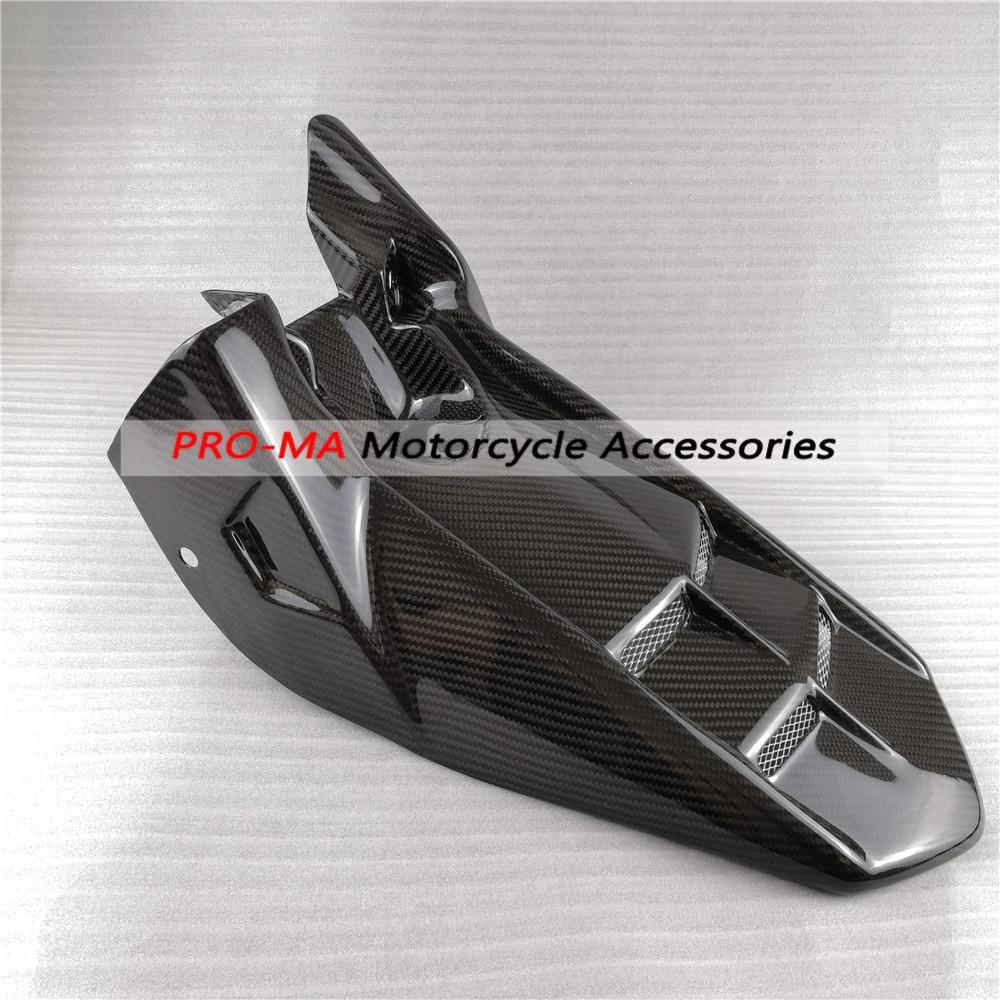 2008 2009 2010 Kawasaki ZX10R Carbon Fiber Rear Hugger Mudguard 1x1 plain weave