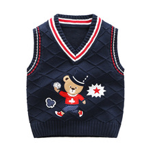 High Quality Baby Boys Knitted Vest For Girls Clothes Soft Cotton Toddler Sweater Coat Infant Autumn Winter Waistcoats knit welaken 2018 new arrive girls coat cute could clouds rainbow pattern cotton knit cardigan kids clothes baby boys knitted coat