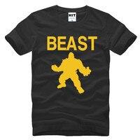 Beast Mode Cross Fit MMA Fitness Mens Men T Shirt T Shirt 2016 Short Sleeve O