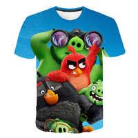 2019 neue Ankunft 3D Gedruckt Wütend Vögel Film 2 T Shirt Mode Stil T-shirt Wütend Vögel 2 Streetwear Jungen und mädchen T-shirts