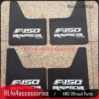 4PCS/SET For FORD F 150 MUDGUARD MUD FLAPS Splash Guards 2015+ PICK UP Car Exterior SVT Raptor fender flare