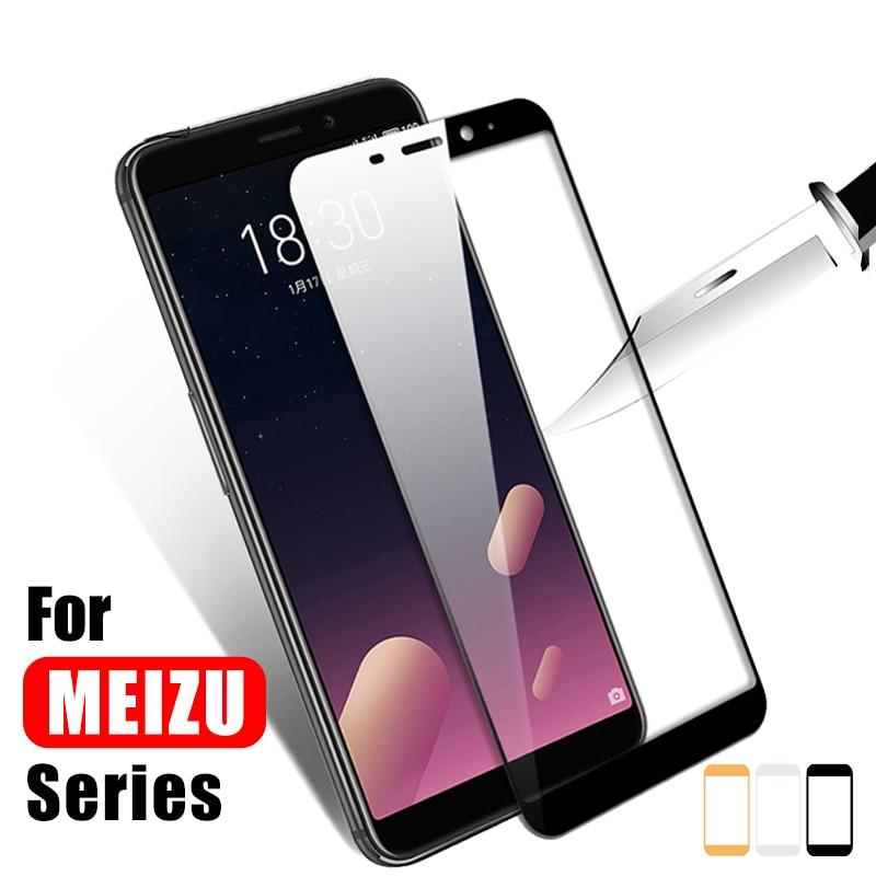 full cover tempered glass for meizu U10 U20 MX6 M6s Pro 7 6 plus M5s M5c M5 M3 note M5 S screen protector protective glass film