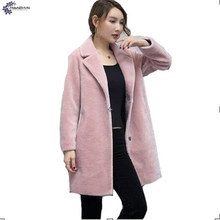 TNLNZHYN Women clothing fake fur coat winter new fashion big yards thickening warm long-sleeved female fake fur Outerwear QQ266