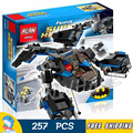 257 unids sy300 dc comicsthe bat batman vs bane tumbler chase modelo bloques de construcción de juguete ladrillos compatible con lego