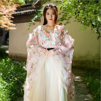 светильники trousselier настольный 30 см princess fairy Hanfu Cosplay costume sexy flower fairy princess dress Korean style dance Clothing National long gown bride Fancy Dress
