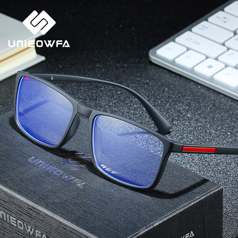 UNIEOWFA Anti Blue Light Prescription Glasses Men Optical Photocromic Eyeglasses Progressive Myopia Hyperopia Eyewear TR90 Frame(China)