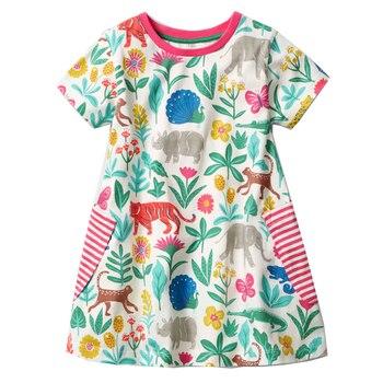 여자 드레스 유니콘 파티 아이 드레스 여자 공주 의상 2018 브랜드 어린이 비치 드레스 아기 여름 옷 vestidos