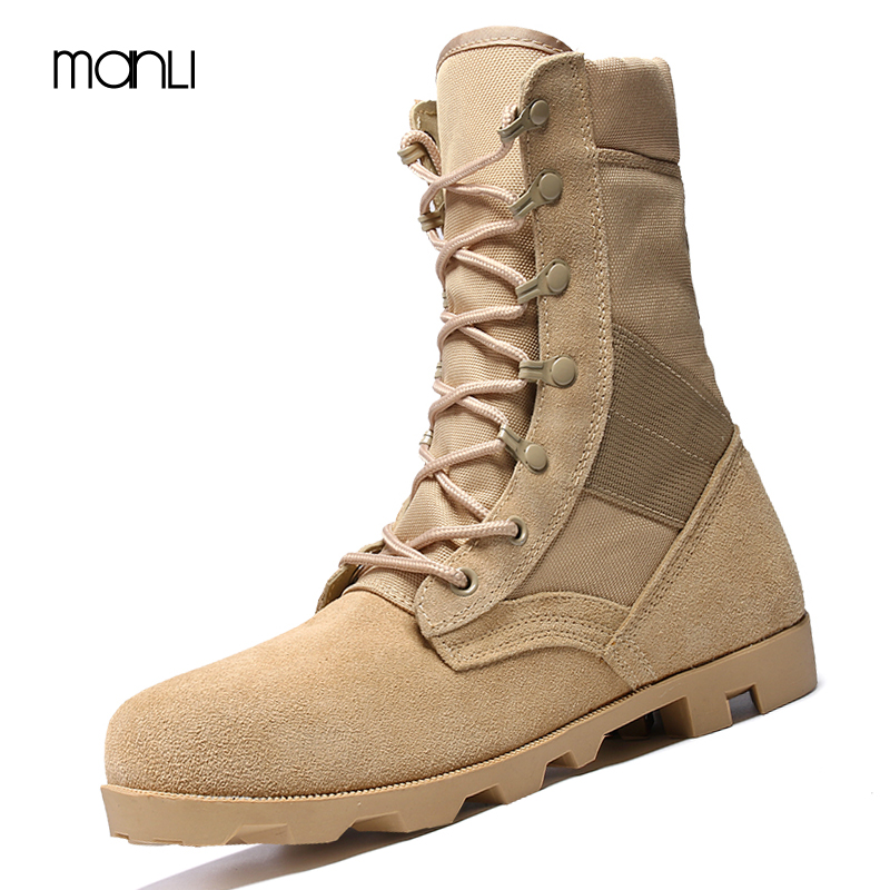 MANLI Winter/Autumn US Army Tactical Military Boots Quality Brand Outdoor Tactical Desert Combat Boats Outdoor Shoes Snow Boots