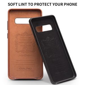 Image 5 - QIALINO moda prawdziwy skórzany tył pokrywa dla Samsung Galaxy S10 6.1 cali luksusowe ręcznie etui na telefony dla S10 Plus 6.4 cali