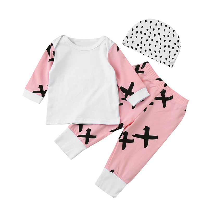 Newborn Baby Girl Boy Outfits Deer Romper Tops+Pants Leggings Hat baby boys Girls clothes newborn infant 3pcs suit 30