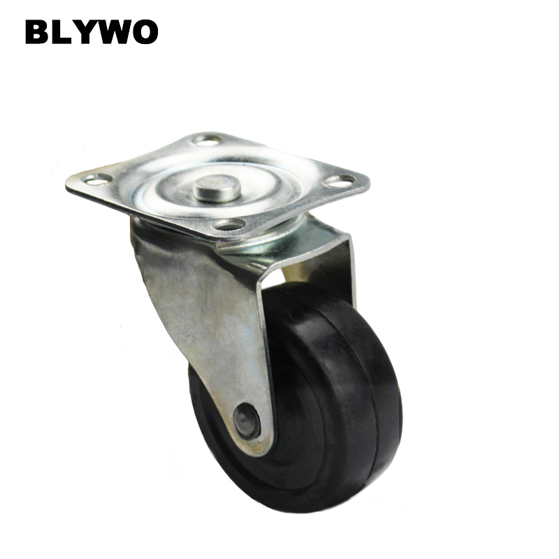 1pc 65mm Heavy Duty Rubber 360 Degree Swivel Castor Wheels Trolley Furniture Caster