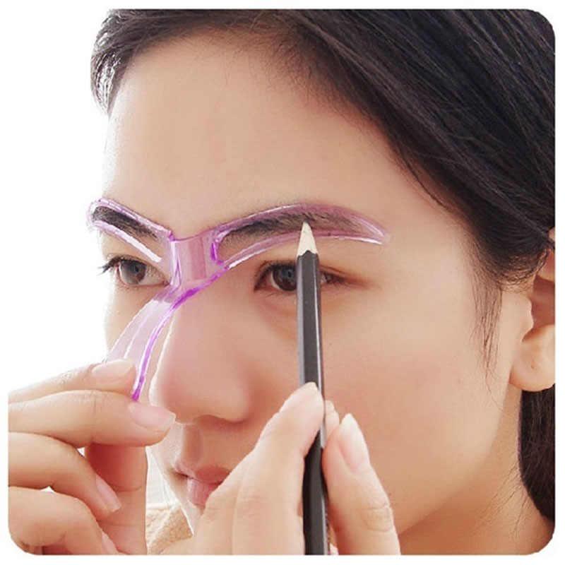 1 pieza de plantillas de cejas modelador de cejas maquillaje de cejas modelo de plantilla de diseño reutilizable cejas herramienta de estilismo (color aleatorio)
