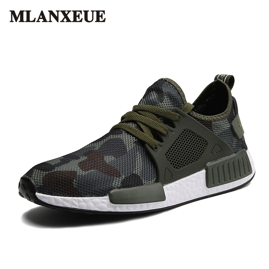 Autumn Fashion Casual Mesh Shoes Men 2017 Flat Shoes Winter Lace Up  Breathable Male Footwear Camouflage