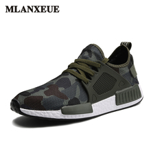 Autumn Fashion Casual Mesh Shoes Men 2017 Flat Shoes Winter Lace Up Breathable Male Footwear Camouflage Color Sneakers Sapatos