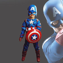 Kid Muscle Costume Cosplay Captain Tights Superhero Halloween Costume Boy Girl Accessories(China)