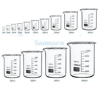 3000มิลลิลิตรแบบฟอร์มต่ำบีกเกอร์เคมีLab G3.3 Borosilicateแก้วผนังหนัก