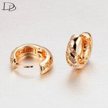 ЦИРКОНИЕВЫЕ серьги для женщин, Ретро стиль, 585, золотой цвет, brincos, Модные Полосатые Австрийские кристаллы, свадебные ювелирные изделия, DDe025