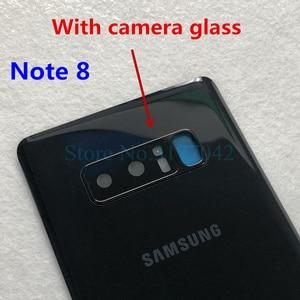 Image 4 - Note8 Note9 عودة غطاء البطارية الإسكان لسامسونج غالاكسي ملاحظة 9 N960 SM N960F ملاحظة 8 N950 SM N950F الزجاج الخلفي حالة + أدوات