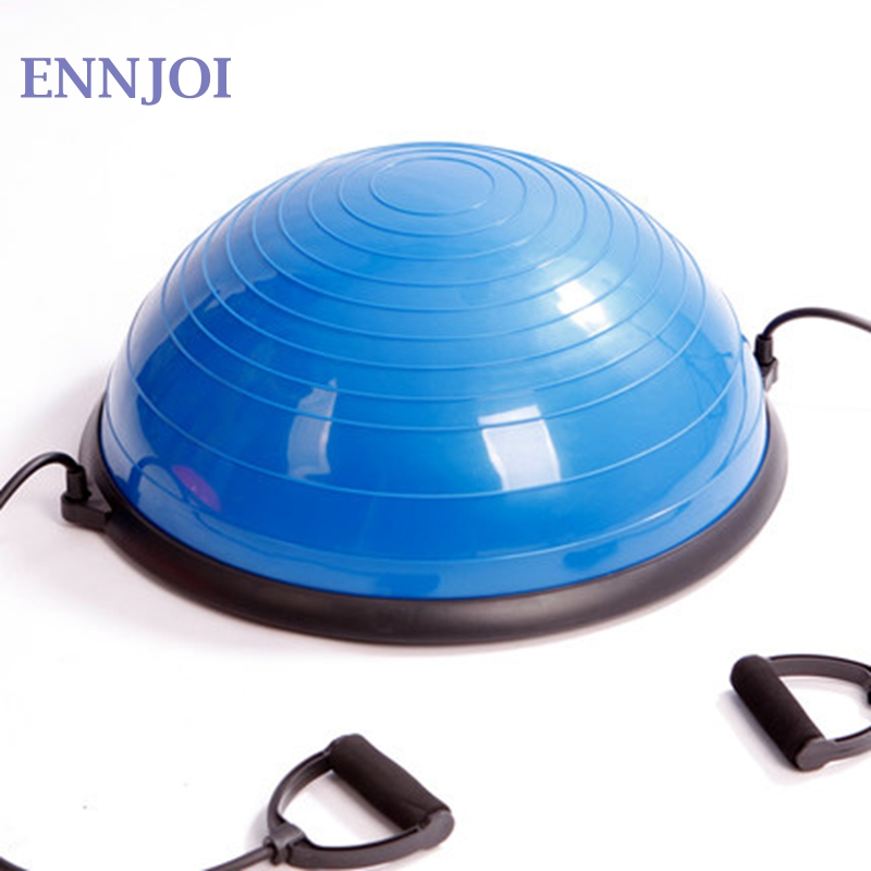 ENNJOI High Quality PVC Yoga Ball Body Balance Half Fitness Bosu Ball Exercise Gym Balance Yoga Ball for Fitness Body Building gym crossfit fitness massage lacrosse ball therapy trigger full body exercise sports yoga balls relax relieve fatigue tools