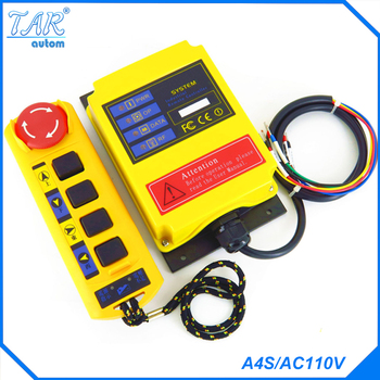 Radio Remote Control A4S/AC110V industrial remote control hoist crane push button switch