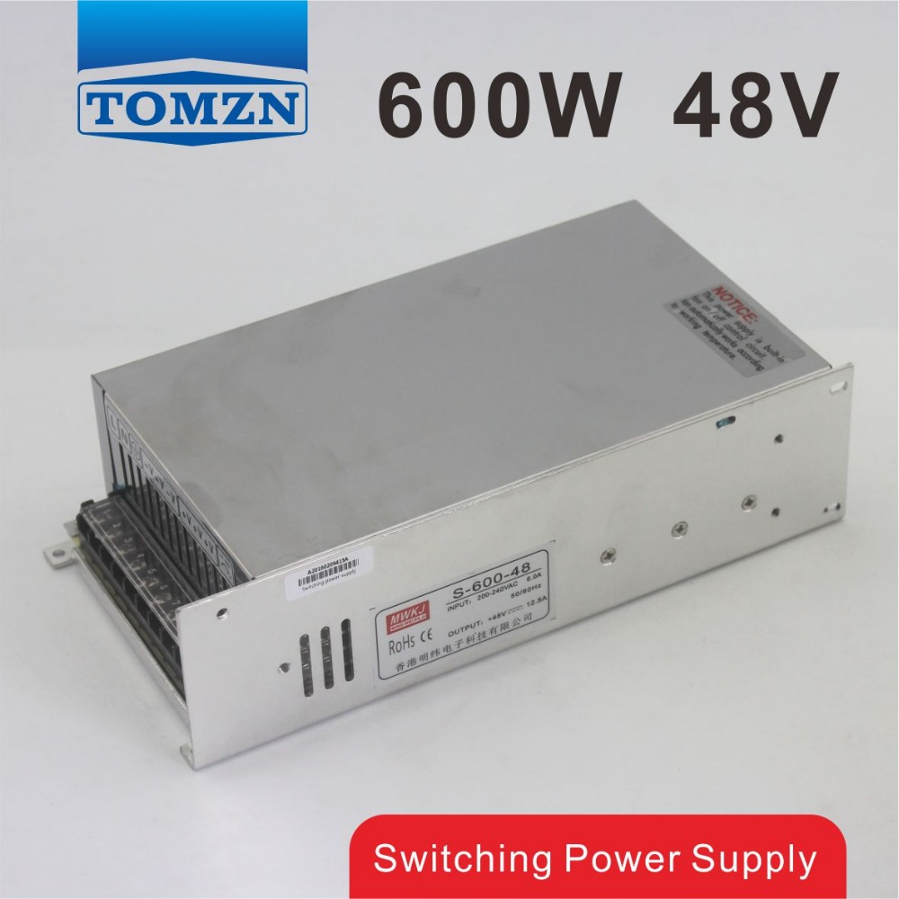 600W 48V 12.5A 220V input Single Output Switching power supply for LED Strip light AC to DC 1200w 12v 100a adjustable 220v input single output switching power supply for led strip light ac to dc