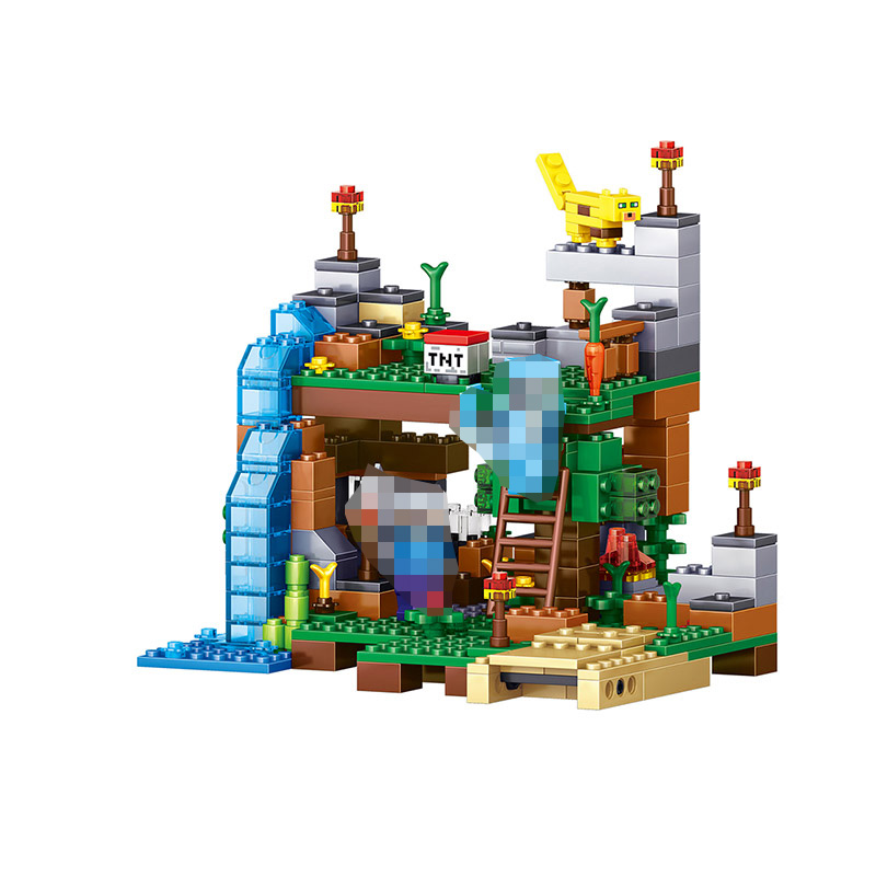 My World Compatible Educational LegoINGlys Minecrafter Move Building Blocks For Toddlers Clever Construction Toys 4 Pcs/lot 259pcs new my world building blocks sets mine and workers scene blocks compatible legoinglys minecrafter toys for childrens